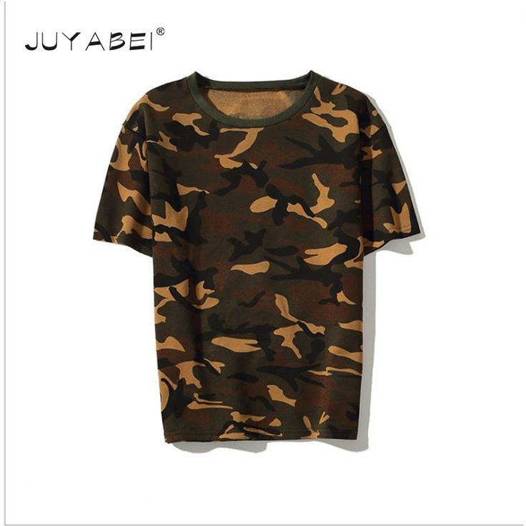 Kanye West Camouflage T Shirt High Quality Summer Bieber Hipster Men Hip Hop Harajuku Clothes Military Army Camo Cotton T-shirts #Affiliate