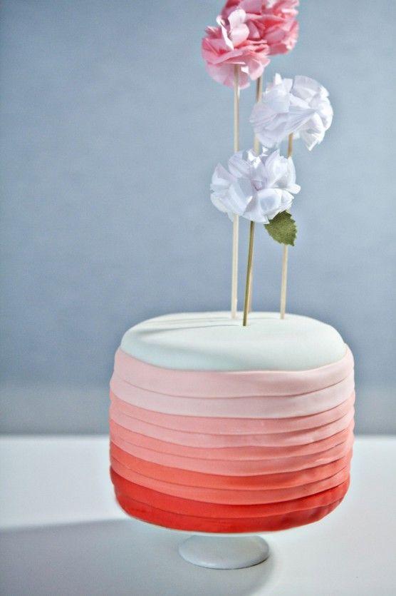 gradient cakeGradient Cake, Cake Cupcakes, Cake Wedding, Pretty Cake, Birthday Parties, Ombre Cake, Wedding Style, Layered Cake, Birthday Cake