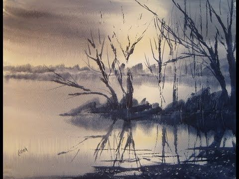 Learn to paint landscapes in watercolour