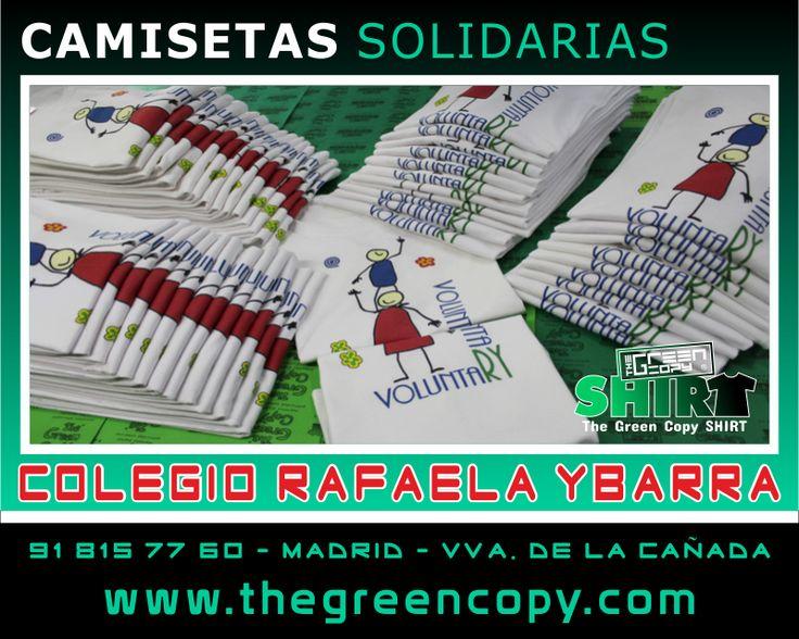 Serigrafía de Camisetas Personalizadas para Viajes Fin de Curso de Colegios, Universidades y Excursiones en MADRID - Tienda de Serigrafía Textil - Colegio Rafaela Ybarra