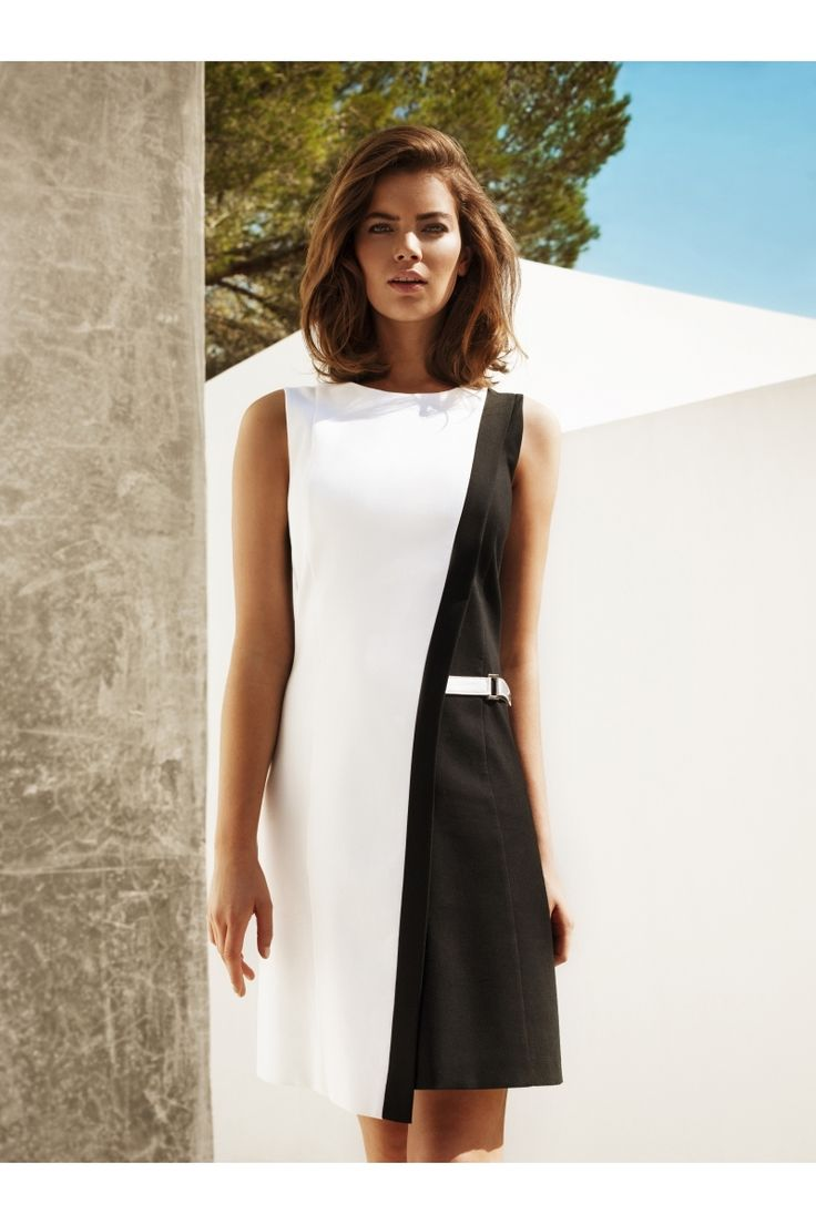 Vestido black&white corte perfecto