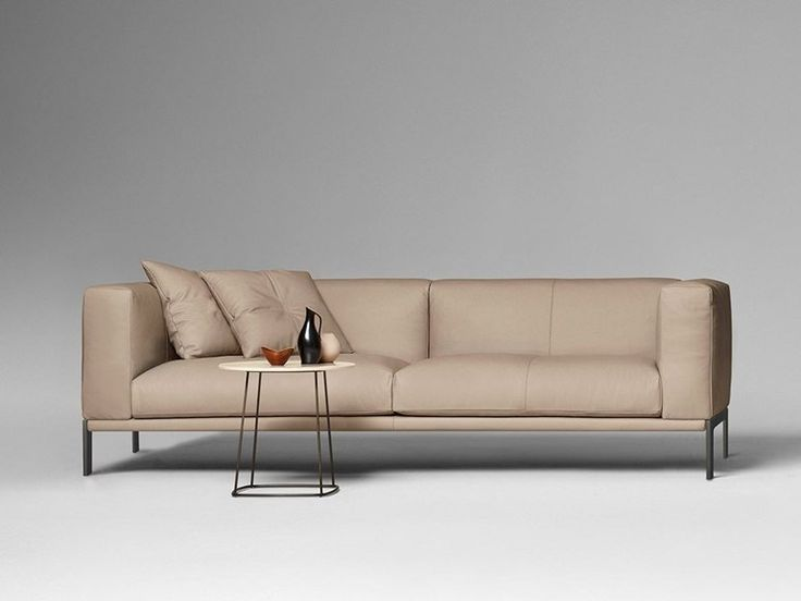 3 seater leather sofa HARVEY by ALIVAR design Angeletti Ruzza Design