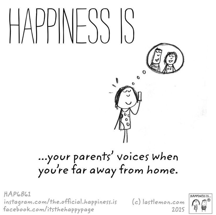 La voce dei tuoi genitori quando sei molto lontano da casa