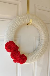 Valentine's Day Wreath - I like the simple elegance of this.