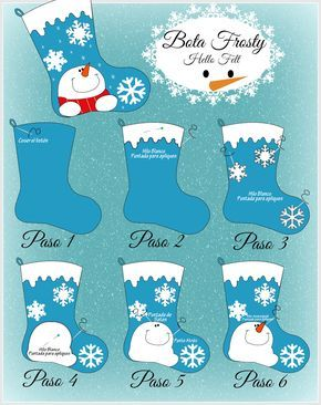 Tutorial Bota Frosty de Fieltro / Felt Christmas Stocking Tutorial