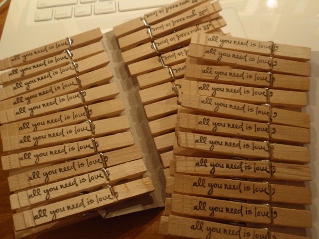 Personalizing the clothespin, a prefect touch!: Stamped Clothes, Clothespins Crafts, Clothes Pegs, Clothespin Crafts, Craft Ideas, Crafty Ideas