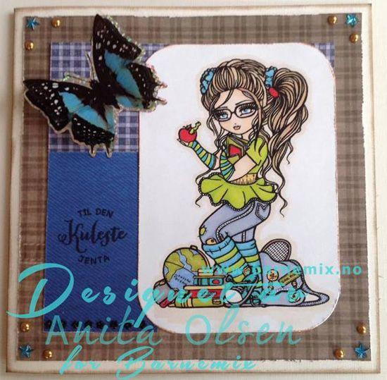Barnemix - Kort med sommerfugl Hannah Lynn