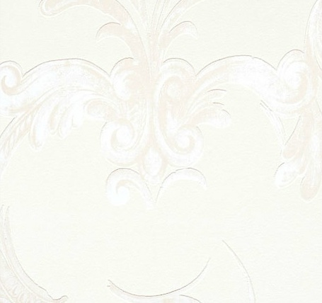 Faded Scrolls-leaf and Ironwork on Ivory - Annet Van Egmond