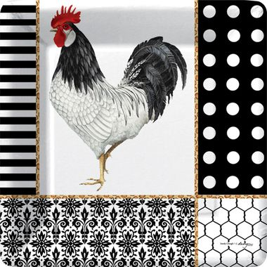 Graphic #Rooster Dinner Paper Plates (48)