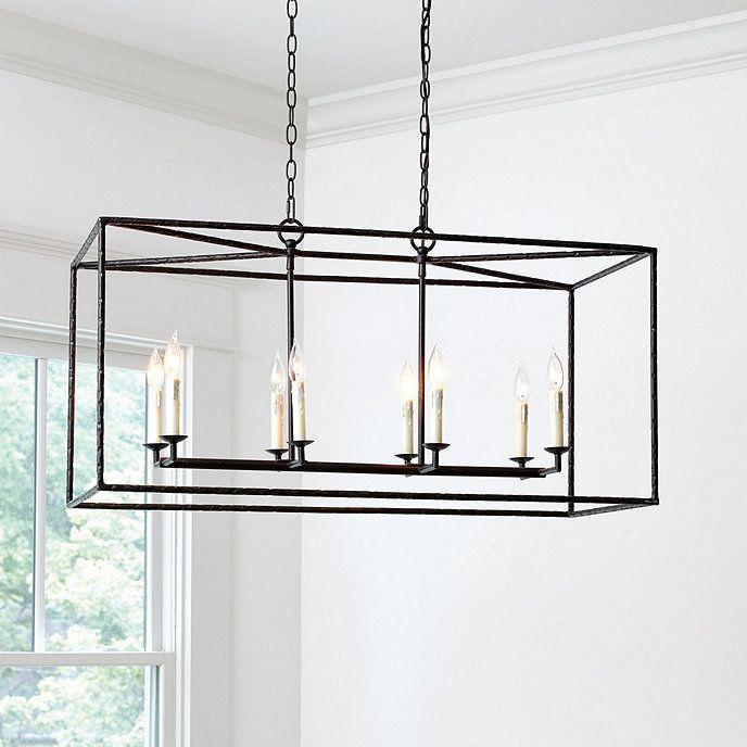 Hadley 8 Light Pendant Rectangular Ballard Designs
