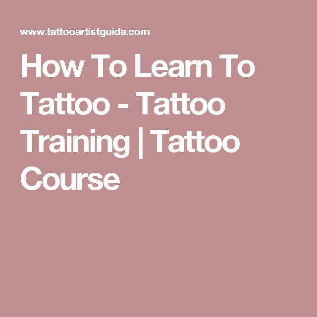 How To Learn To Tattoo - Tattoo Training | Tattoo Course