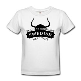 Womens Heavyweight T-Shirt ~ Im a Swedish Lady VIKING! ~ 388