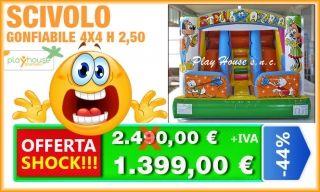 Scivolo gonfiabile 1.390€ http://playhousegonfiabili.it/offerte-shock-giochi-bambini/offerta-scivolo-gonfiabile-detail.html