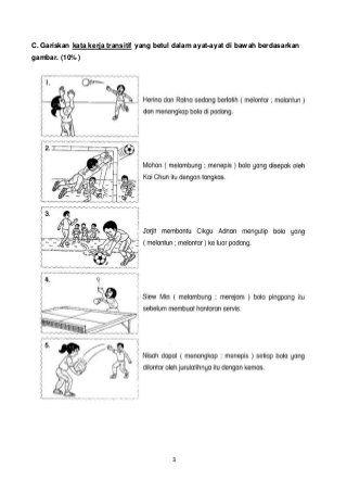 Thn 4 Pemahaman Bm Sjkc Free Kindergarten Reading School Kids Activities Malay Language