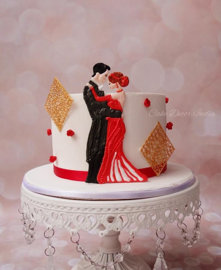 Cake Pics For Marriage Anniversary : 25+ best ideas about 1st Anniversary Cake on Pinterest ...