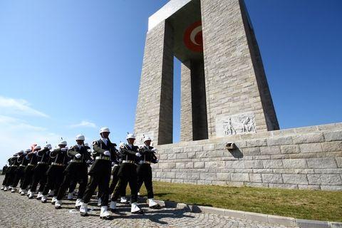 Ceremony of Anzac day in Gallipoli, Canakkale, Turkey