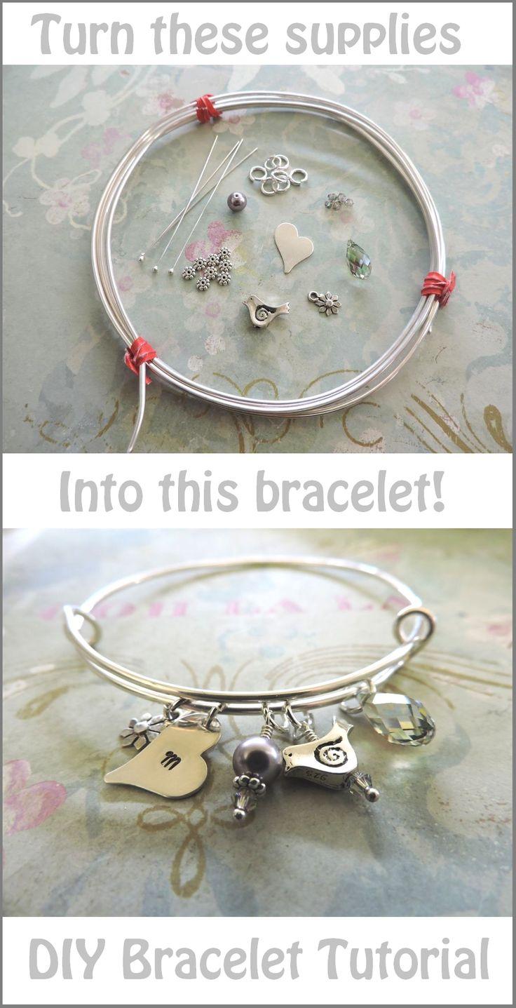 Adjustable bracelet tutorial! http://www.rings-things.com/blog/2015/03/06/make-it-yourself-adjustable-bangle-bracelet-project/