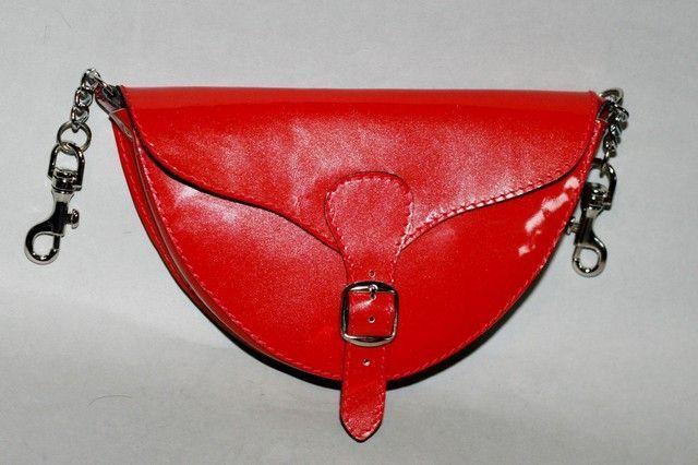Női bőr váll-és övtáska (piros) - women's bag