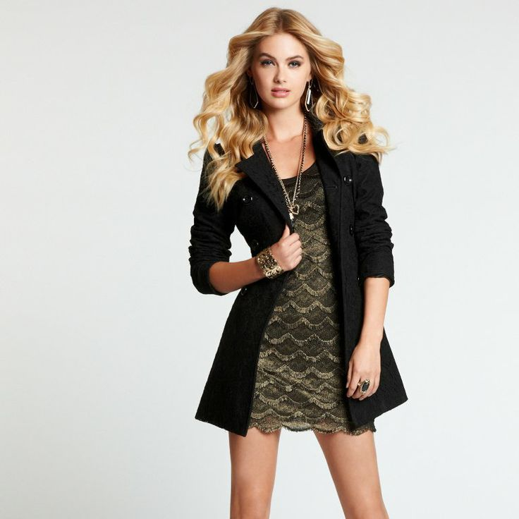 Kate Lace Trench Coat | GUESS.ca