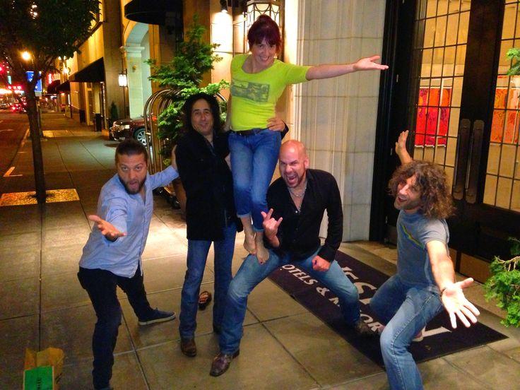 Dorian Heartsong, Tony Catania, Debbie Shair, James Dylan and Dan Rothchild of Jason Bonham's Led Zeppelin Experience and Heart - Heartbreaker Tour, 2013