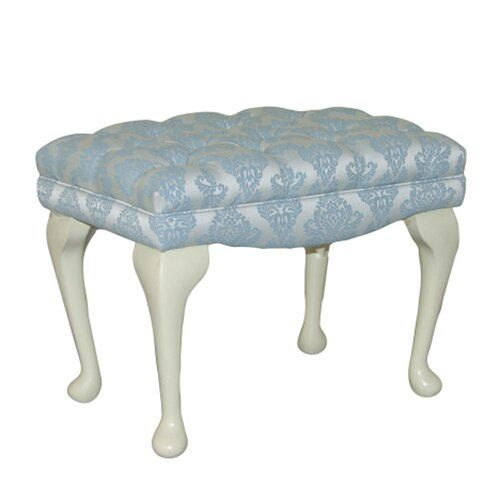 Loretta Dressing Table Stool Fairmont Park Upholstery: Morello Terracotta Pattern, Leg Finish: Light Oak