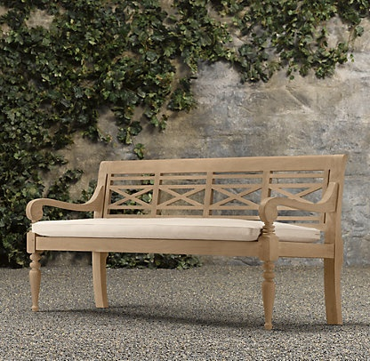17 best images about backyard benches on pinterest for Restoration hardware teak outdoor furniture