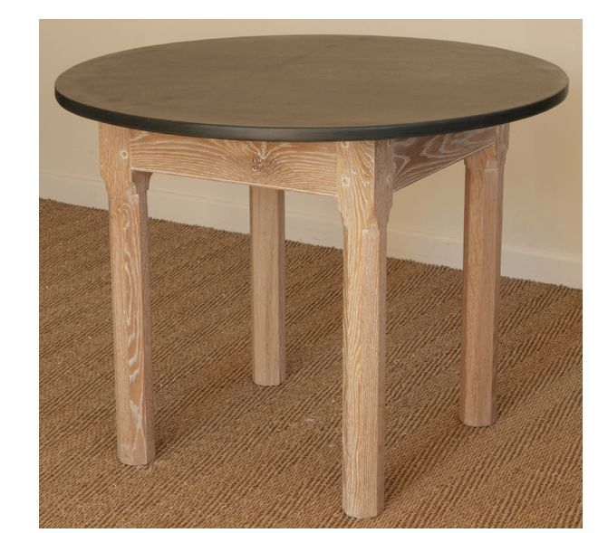 A Limed Oak 750mm Round Table Ideal As A Breakfast Table www.slatetoptables.com