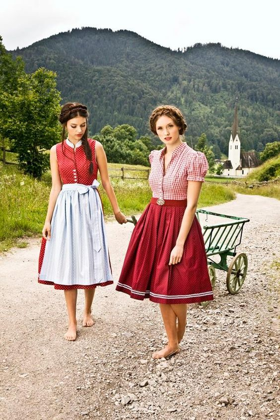 FREE Apron & Blouse! Shop at: Lederhosenstore(dot)com Beautiful Vintage German Dress for a Causal Wear on sale. German Costume or even Halloween Costume. Dirndls Fashion Styling Midi Dress with a Vintage trend or a Spieth and Wensky Bavarian Trachten Outfit for Women. Inexpensive and Cheap Prices with multi color aprons and Lace Pattern designs. Oktoberfest in Munich! #Tracht #Dirndl #German #Outfits #style #cheap #Oktoberfest