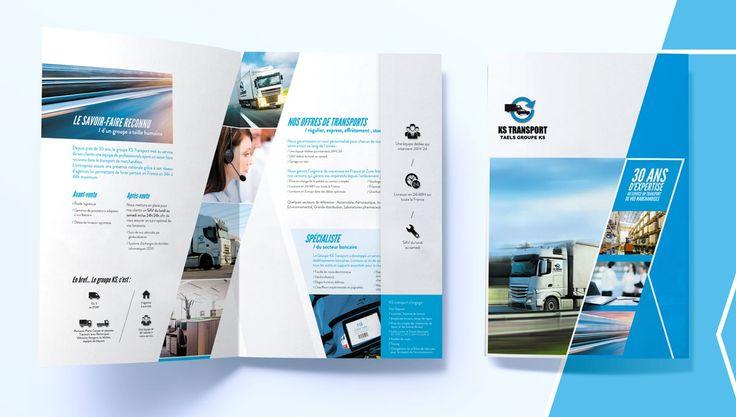La société KS Transport dont le siège social est établi en région lyonnaise, a confié à notre agence de communication le soin de repositionner son image de marque lors d'un premier travail sur sa plaquette.
