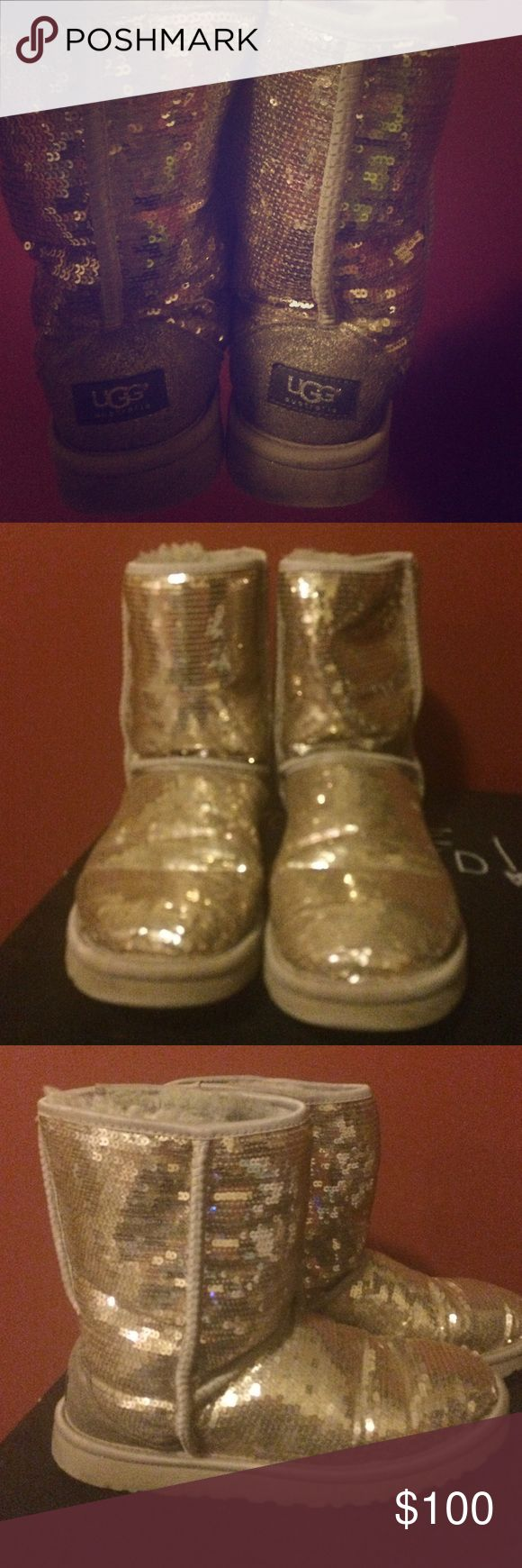 Uggs Gold sparkly DO NOT BUY ONLY FOR BRANDY UGG Shoes Winter & Rain Boots