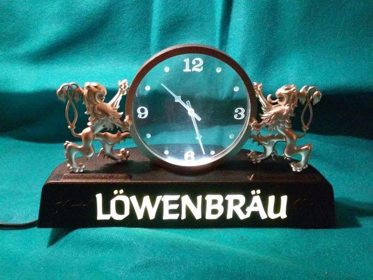 Vintage LOWENBRAU BEER CLOCK 79' Electric & Beer Tap Special Beer Collection