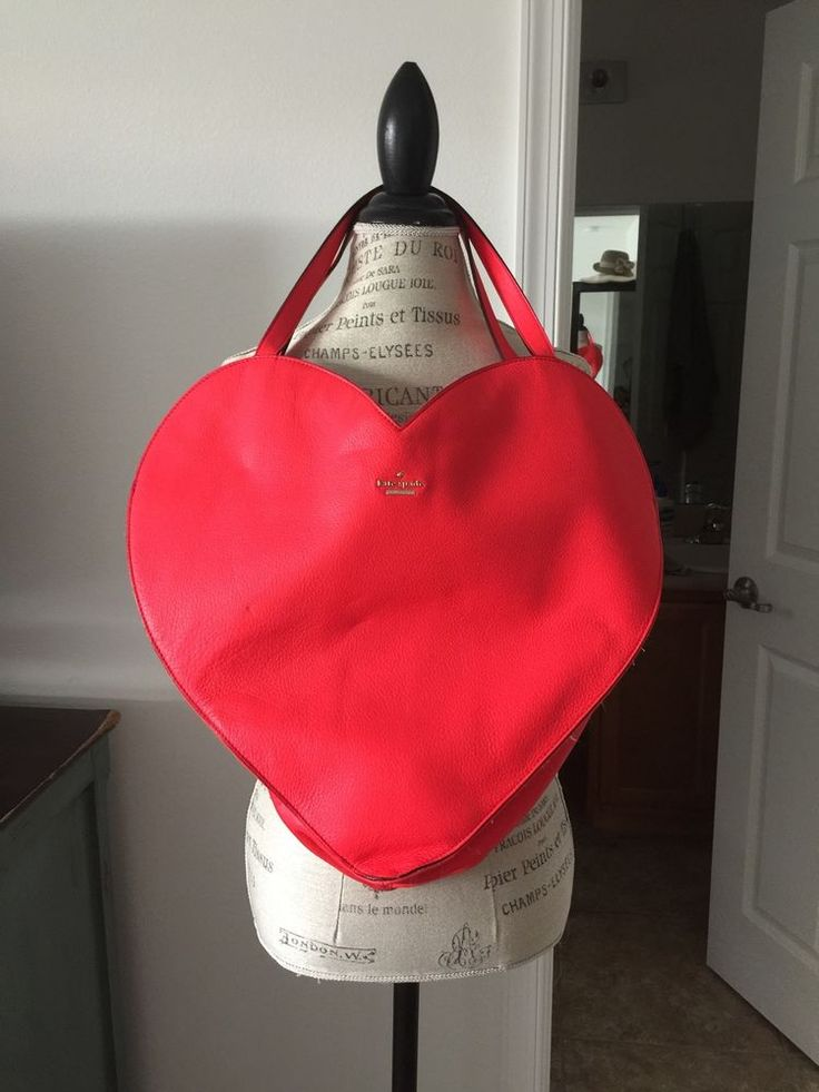 Kate Spade New York Red Love Birds Heart Tote NWT, Handbag Collectors Item  | eBay