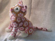African Flower Cat Luna crochet pattern by Jo's Crocheteria  #crochet…