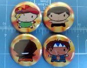 Sinix Design Super Street Fighter 4 Character Pins