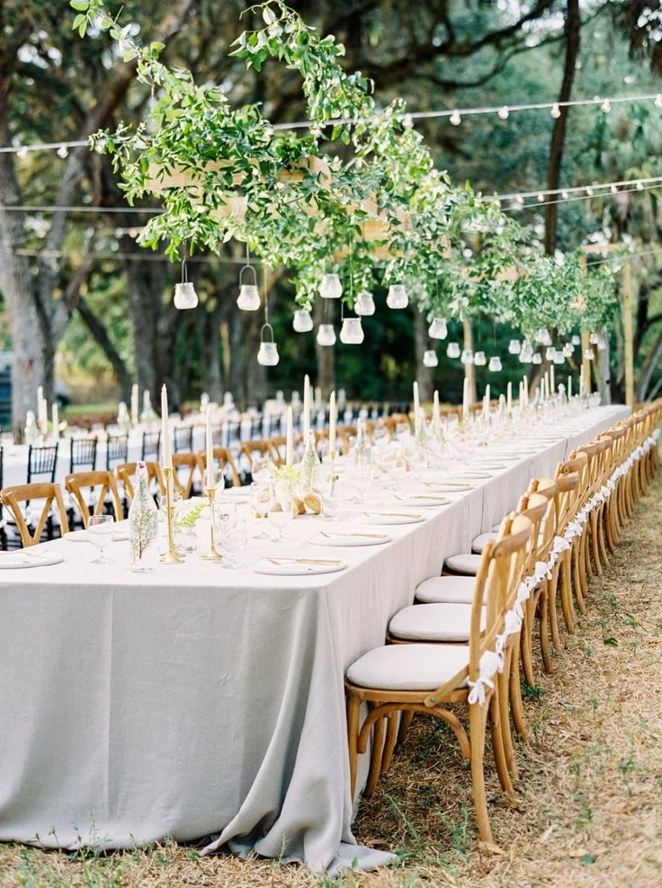 Greenery French Country wedding table decor: Photography: Hunter Ryan - http://hunterryanphoto.com/
