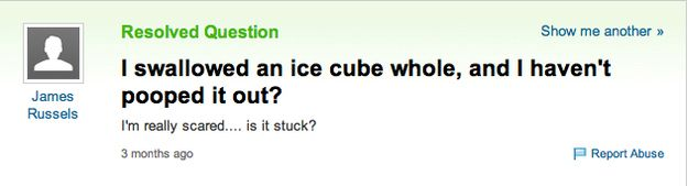 Medical Emergencies Only Yahoo Answers Can Help You With