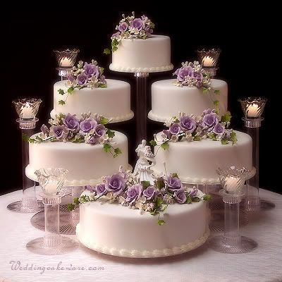 How Many Flowers For A  Tier Pillar Wedding Cake