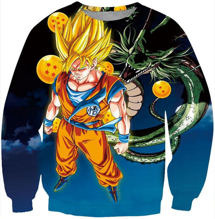 Dragon Ball Z Super Saiyan Goku 3D Print Sweatshirt. 100% Cotton and Polyester blend, custom made sublimation printed technique and hand sewn hoodies, t-shirts, and long sleeves clothing.   For our 3D clothing, unless there is a picture on the back for our product images, all of our 3D clothing are printed front and back with the same image.                 FREE Shipping  NOT SOLD IN STORES          Gender: Unisex  Material: Cotton, Polyester Spandex Blend Machine Washable and Dryer Safe…