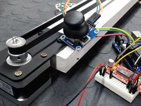 Control a Stepper Motor using an Arduino, a Joystick and the Easy Driver - Tutorial - YouTube