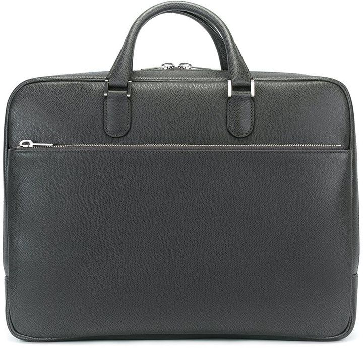 Valextra double handle briefcase
