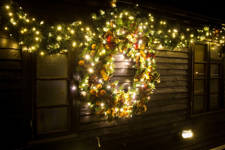 St George's Hill wreath at night