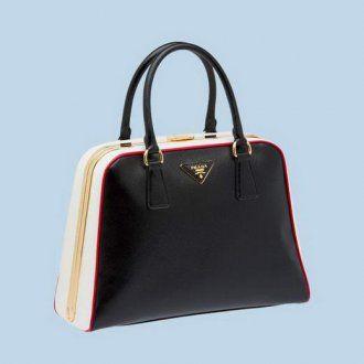 BL0808 Prada Saffiano Leather Tote Bag BL0808 Black