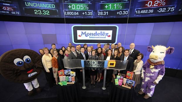 Mondelez International, Inc., a world leader in chocolate, biscuits, gum, candy, coffee and powdered beverages, rang the NASDAQ Stock Market Opening Bell to officially celebrate its launch as a new company. Formerly Kraft Foods Inc., the company changed its name to Mondelez International, Inc. after spinning-off its North American grocery business, Kraft Foods Group, Inc., on Oct. 1, 2012.