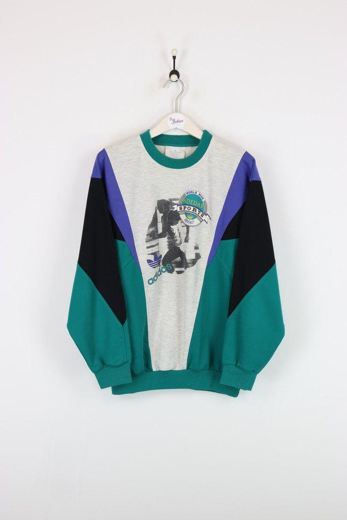 Adidas Sweatshirt Grey Green Black Xl Sweatshirts