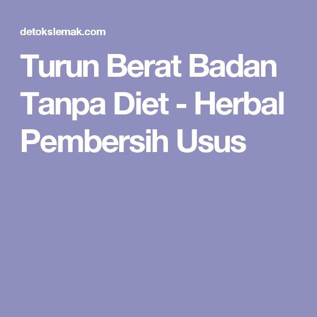 Turun Berat Badan Tanpa Diet - Herbal Pembersih Usus