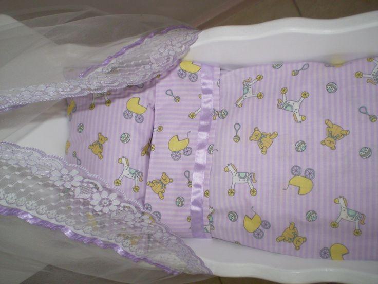 Dolls cradle sheet set