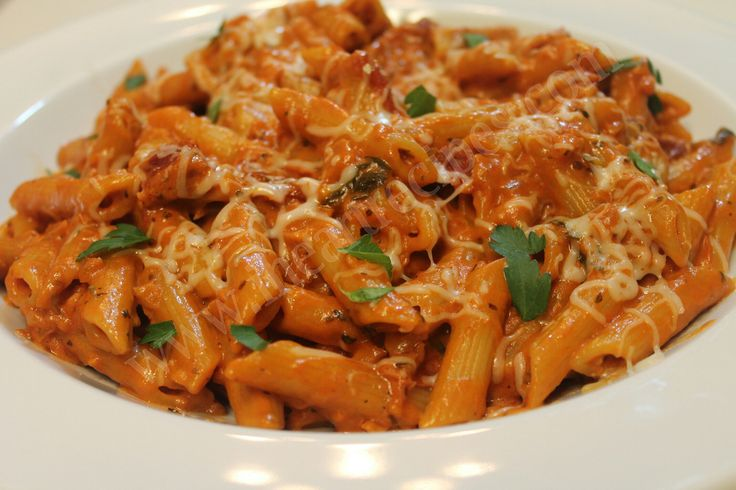 Penne with Homemade Vodka Sauce