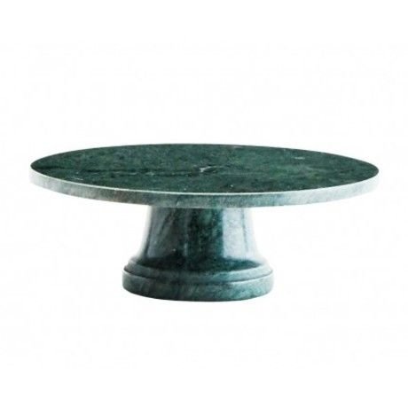 Madam Stoltz Green Marble Cake Stand - Trouva