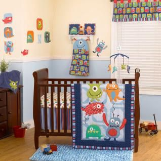 Monster Buds Bedding by CoCo and Company - Baby Monster Crib Bedding - 7233-607