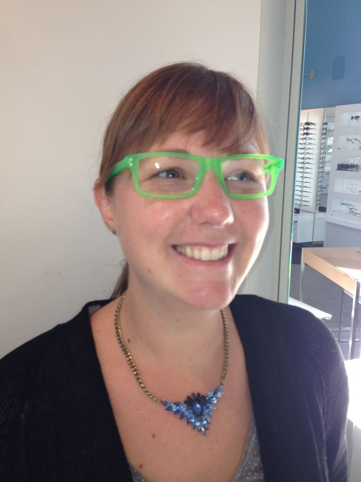 Laura goes green with glasses from Zen Barcelona